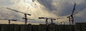 Cranes construction skyline