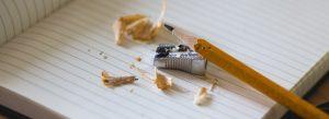 Pencil sharpener and shavings