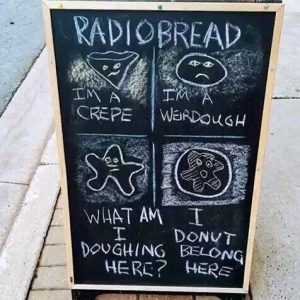 Radiobread pun sign