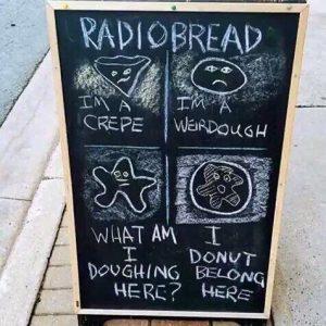 Radiobread pun sign