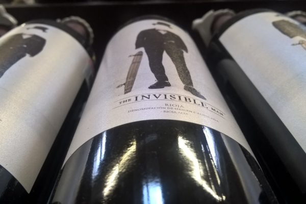 Invisible Man bottle of wine label