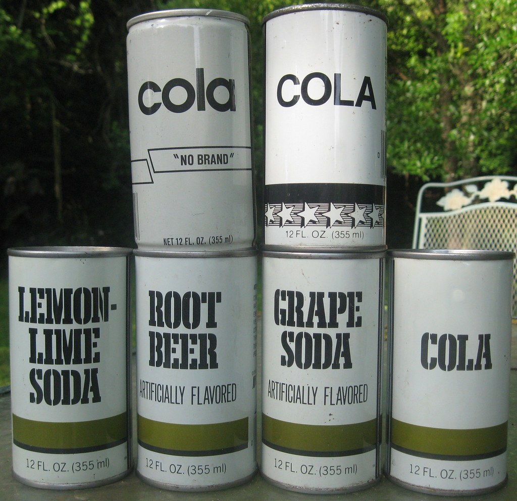 Generic soda and cola cans