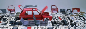 Volkswagen Golf in pieces