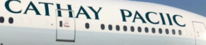 Cathay Pacific spelling mistake - trimmed