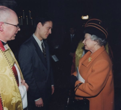 Piers Maxim with the Queen