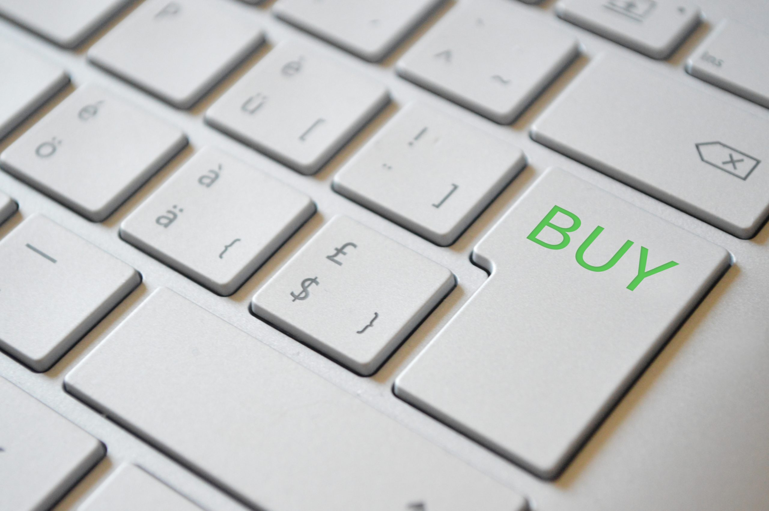 Buy button on computer keyboard
