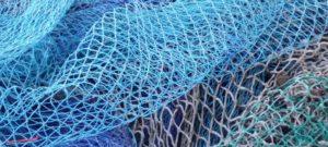 Close up of trawler nets