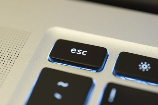 Escape key on keyboard